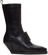 Rick Owens Black Walrus Cowboy Boots