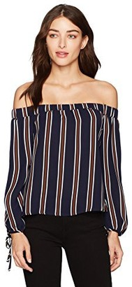 J.o.a. Women's Off The Shoulder Striped Top