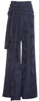 Rosie Assoulin High Waisted Sash Wide-leg Jacquard Trousers