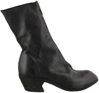 Guidi Front Zip Heel Boots