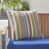 "Crate & Barrel Sunbrella ® Sailing Striped 20"" Sq. Outdoor Pillow"