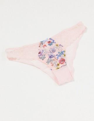 Figleaves chloe brazilian brief in pink floral