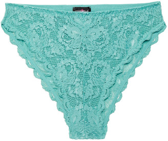 Cosabella Never Say Never Stretch-lace High-rise Briefs