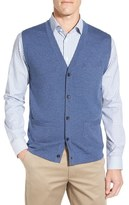 John W. Nordstrom V-Neck Wool Button Front Sweater Vest