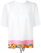 MSGM contrast hem blouse - women - Acetate/Viscose/Silk - 40