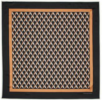 Aspinal of London Harlequin Print Silk Scarf