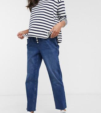 Urban Bliss Maternity high waist skinny jeans in blue