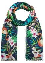 Violeta BY MANGO Tropical printed foulard
