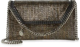 Stella McCartney Mini Falabella Metallic Woven Crossbody Bag