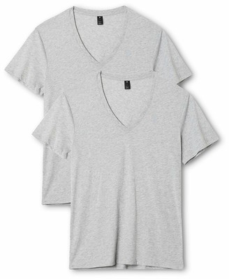 G Star Men's Base Heather V Neck Tee Short Sleeve 2 Pack