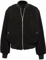 Adidas Originals By Alexander Wang - Reversible Fleece And Jacquard Bomber Jacket - Black