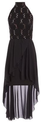 Dorothy Perkins Womens *Quiz Lace High Neck Mini Dress