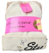Betsey Johnson Star Girl Sparkle 2-Piece Beanie and Scarf Set