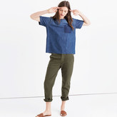 Madewell Denim Raw-Edge Tee
