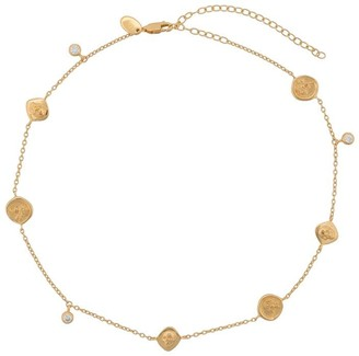 Northskull Rose seal & skull choker necklace