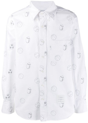Thom Browne Embroidery Cotton Shirt