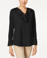 Charter Club Ruffled Tie-Detail Blouse, Only at Macy's