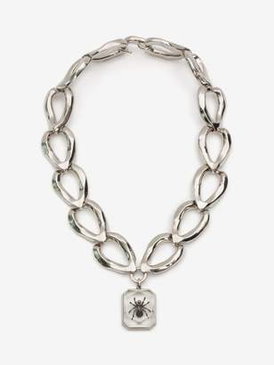Alexander McQueen Spider Faceted Chain Necklace