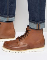 Bellfield Heritage Boots in Tan Leather