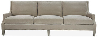 Nelson Sofa - Putty Velvet - Lillian August - frame, mineral; upholstery, putty; nailheads, pewter