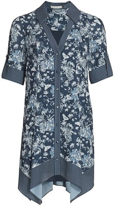 Alice + Olivia Connor Roll Handkerchief Shirtdress