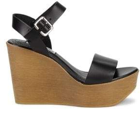 Steve Madden Paden Leather Wedge Platform Sandals