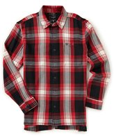 True Religion Washed Plaid Long-Sleeve Loose Fit Shirt