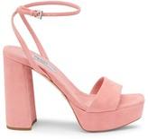 Prada Suede Ankle-Strap Platform Sandals