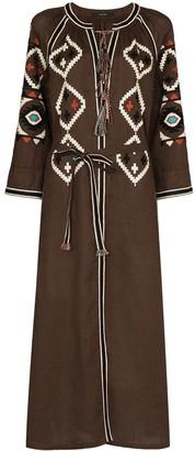 Vita Kin x Browns 50 embroidered midi dress