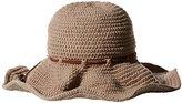 Ale By Alessandra 'ale by alessandra Women's Nikki Retro Crochet Floppy Hat with Leather Trim