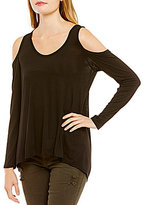 Eyeshadow Long-Sleeve Cold Shoulder Tee