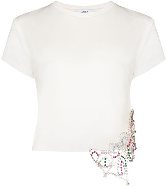 Area crystal-embellished cotton T-shirt