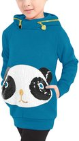 uxcell® Girl Long Sleeve Paillette Cartoon Panda Hoodies