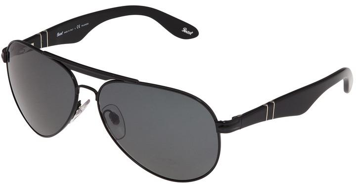 Persol PO2365SP (Shiny Black/Blue Polarized) - Eyewear