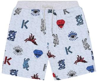 Kenzo Kids Printed cotton shorts