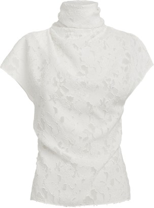 Cushnie Floral Burnout Top