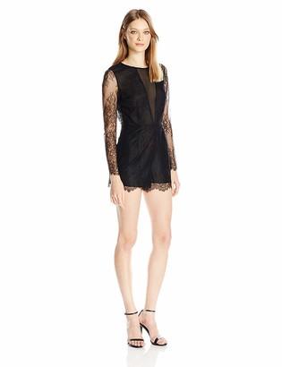 Dolce Vita Women's Eden Long Sleeve Lace Romper with Open Back
