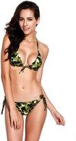 RELLECIGA Women's Cheeky bikini Bottom Push up Triangle Bikini Swimsuit for Women