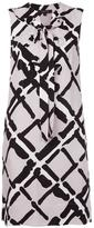 Derek Lam lattice print lace up dress