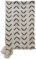 One Kings Lane Vintage Mali Tribal Mud Cloth Tassel Throw