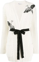 RED Valentino bird embroidered cardigan