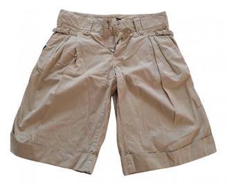 Dolce & Gabbana Ecru Cotton Shorts