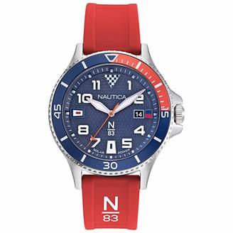 Nautica N83 Men's NAPCBS910 Cocoa Beach Black Silicone Strap Watch