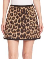 No.21 NO. 21 Virgin Wool & Alpaca Leopard-Print Mini Skirt