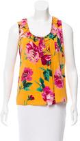 Dolce & Gabbana Floral Print Silk Top