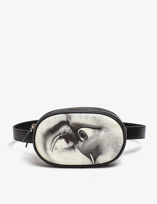 Seletti wears TOILETPAPER Eye & Mouth waist bag