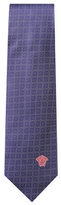 Versace Squares and Circles Silk Tie