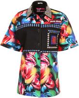 Miu Miu Floral Stretch Denim Shirt