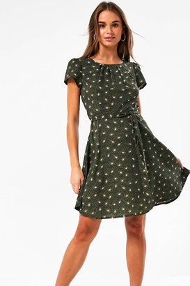 Iclothing iClothing Frankie Paisley Print Short Dress in Olive