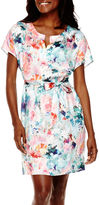 Liz Claiborne ShortSleeve Floral Dress